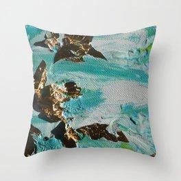Golden Marine Throw Pillow