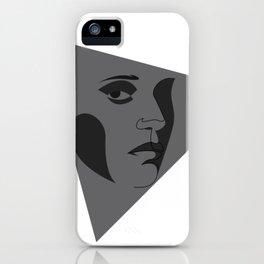 black triangular - line iPhone Case