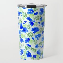 Floret (Blue) Travel Mug