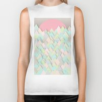 pastel Biker Tanks featuring Forest Pastel by dogooder