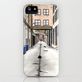 Alley in Ravenswood, Chicago iPhone Case