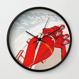 Luchon - Superbagneres - Vintage French Travel Poster Wall Clock