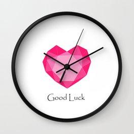 Love, Good Luck Wall Clock
