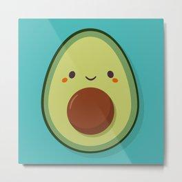 Cute Kawaii Avocado Metal Print