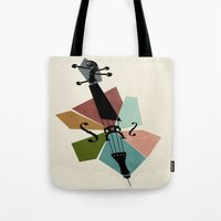 cello Tote Bags featuring Bach - Cello Suites by Prelude Posters