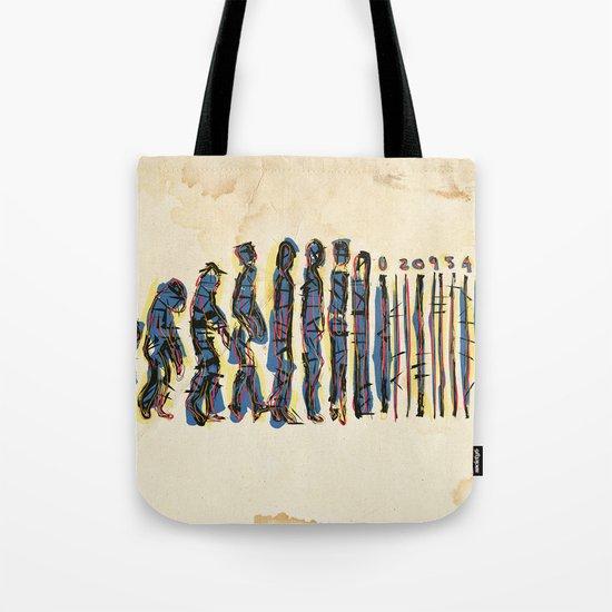Barcode Evolution Tote Bag