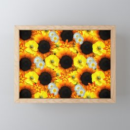 Sunflowers - Shades of yellow Framed Mini Art Print