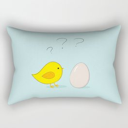 The chicken or the egg Rectangular Pillow