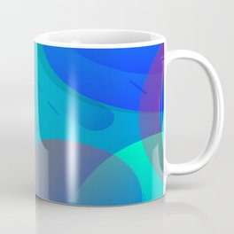 Purple Blue And Green Abstract Design Coffee Mug