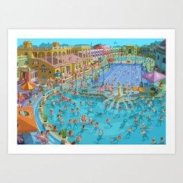 Szechenyi bath Budpest Art Print