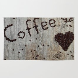 Love Coffee in Beans - Cafe or Kitchen Decor Rug
