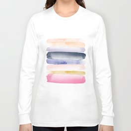 Brushstroke Ombre Abstract Long Sleeve T-shirt