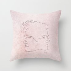 One line Fight Club Throw Pillow
