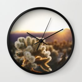 Daybreak at the Cholla Cactus Garden Wall Clock