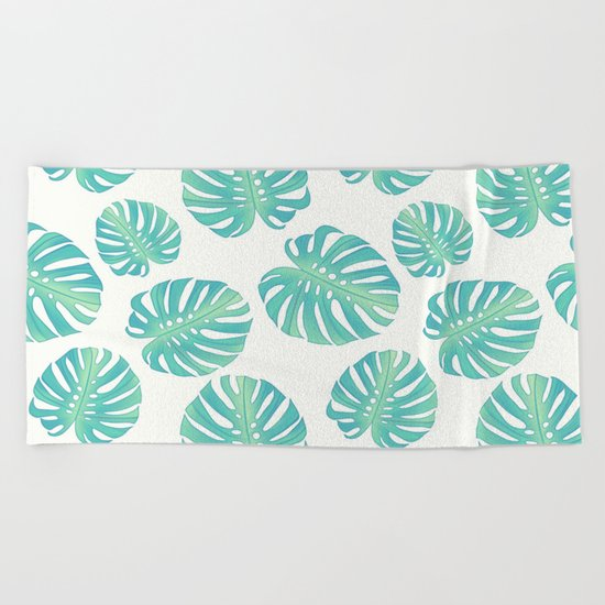 Vintage leaves Beach Towel