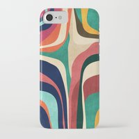 map iPhone & iPod Cases featuring Impossible contour map by Picomodi