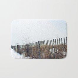 Snowy Beach Bath Mat