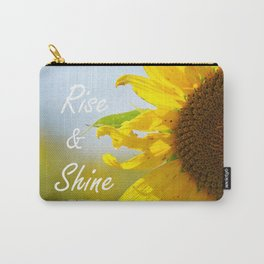 Rise and Shine Sunflower Carry-All Pouch