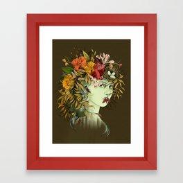 Persephone, goddess of Spring Framed Art Print