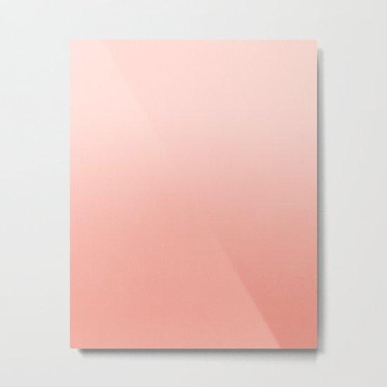 Ombre pastel fade peach blush coral gender neutral basic canvas art print minimalist Metal Print