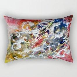 Boshonto Beej - Mixed Media Beeswax Encaustic Abstract Modern Art, 2015 Rectangular Pillow
