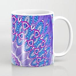 Indian Patterns Mandala Ball - Blue Pink White Coffee Mug
