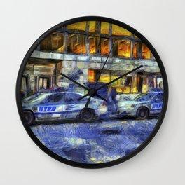 New York police Department Van Gogh Wall Clock