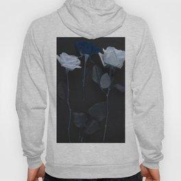 Blue roses on black Hoody