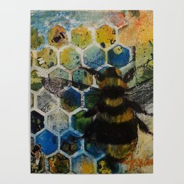 Bee Kind to One Another Poster