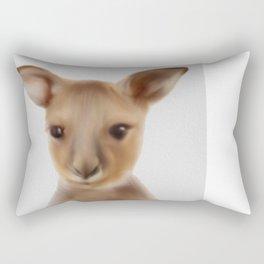 Baby Kangaroo , Cute Kangaroo Art, Nursery Wall Art, Australian Animals  Rectangular Pillow