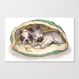 Bubba & Sleeping Reindeer Canvas Print