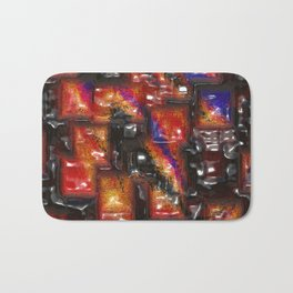 Abstract bad blocks Bath Mat