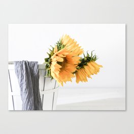 Sunfower Basket Canvas Print