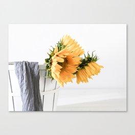 Sunfower Basket Canvas Print