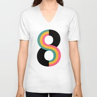 physics V-neck T-shirts featuring Infinity by Andy Westface