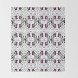 Roses Black Widow Throw Blanket