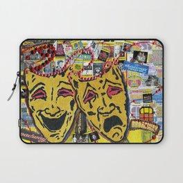Broadway Theatre Masks Collage Laptop Sleeve