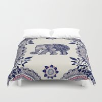 boho Duvet Covers featuring Elephant Pink by rskinner1122