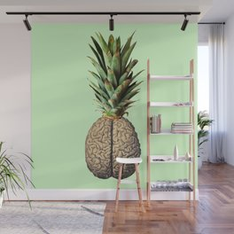 Pinebrain (pineapple) Wall Mural