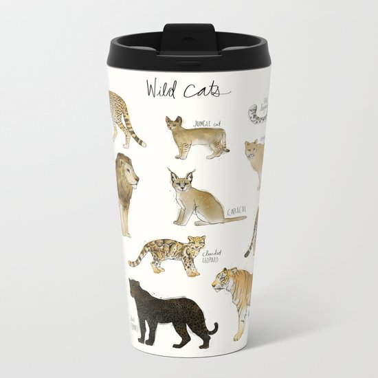 Wild Cats Metal Travel Mug