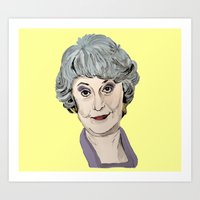 Dorothy Zbornak from The Golden Girls (Yellow) Art Print