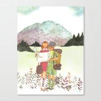 moonrise kingdom Canvas Prints featuring Moonrise Kingdom by Emma Block