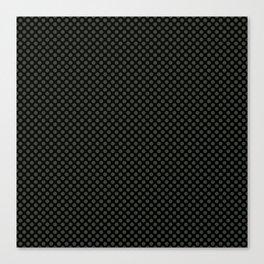Black and Duffel Bag Polka Dots Canvas Print