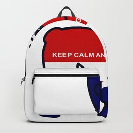 Keep Calm and Go Walkies French Bulldog Backpack