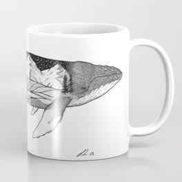 Humpback whale wave action Coffee Mug