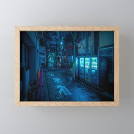 Midnight in Tokyo Light up by Vending Machine Framed Mini Art Print