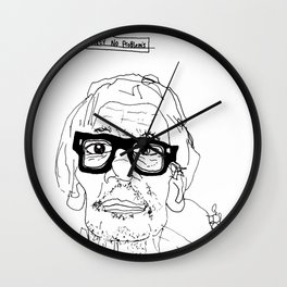 No Money No Problems Wall Clock
