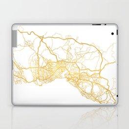 ISTANBUL TURKEY CITY STREET MAP ART Laptop & iPad Skin