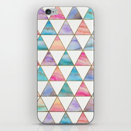 Marble Triangles Pattern iPhone Skin