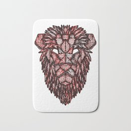 Lion Mask Bath Mat